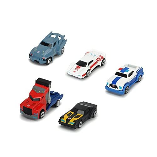 Simba Dickie 203113007 - Transformers Robots in Disguise Set 5 Auto Die Cast, 7 cm