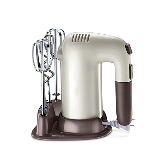 SFLRW Electric Hand Mixer,5-Speed Powerful Turbo function Handheld Mixer with Eject Function,Storage Base,200W and 4 Metal Accessories for Whipping Mixing Cookies, Dough Batters