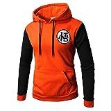 PIZZ ANNU Dragon Ball Sweaters Goku Sudadera Pullover Sudadera Classic Dragonball(Naranja&Negro M)
