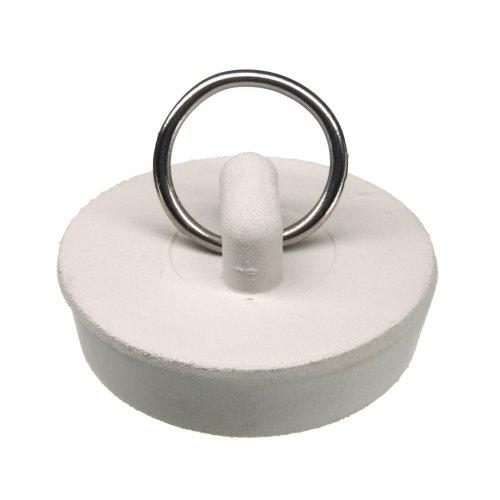 Danco 1-1/2 inch Rubber Drain Stopper, White, Carded, 80227