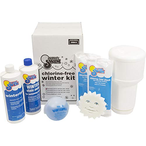 In The Swim Bundle 2 Items: Deluxe Pool Winterizing Closing Chemical Kit Pools up to 15,000 Gallons Winter Ball Stain Preventer