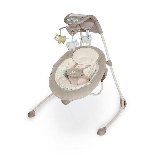 Bright Starts/Kids II 60107 - Columpio alto de lujo Ingenuity Inlighten Cradling, multicolor