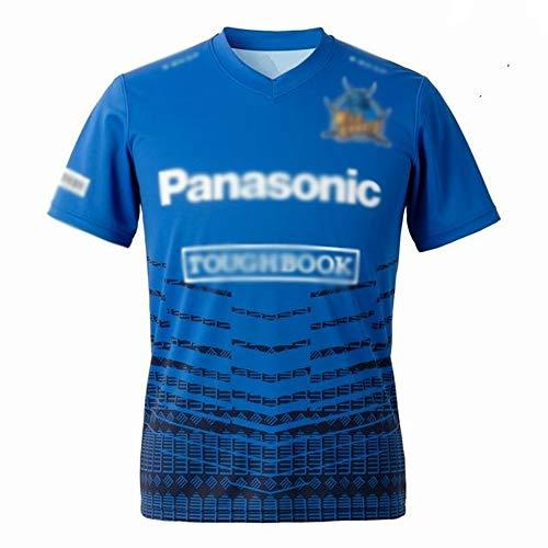 2020 Wilde Samurai, Home Rugby Jersey, Herren Kurzärmeliges T-Shirt Jersey, Rugby-Unterstützer, lässiges lockeres Trainingshemd, Fan-Jersey-Tops,Home Court,XL
