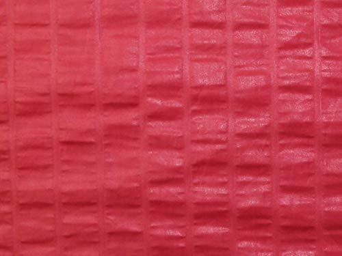 Minerva Crafts Glazed Stripe Cotton Fabric Cherry Pink - per metre
