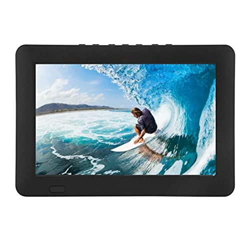 Dpofirs Televisor portátil para automóvil de 9 Pulgadas, 16: 9 1080P HD Reproductor de televisión analógica Digital HD con Cargador para automóvil Soporte para Disco U(YO)