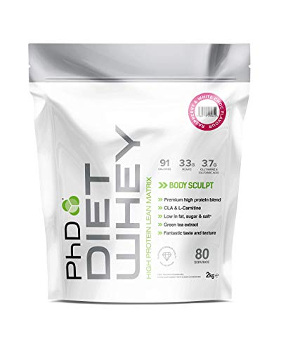 PhD Nutrition Diet Whey Protein Powder, Raspberry and White Chocolate, 2 kg