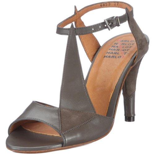 Harlot Damen Anne Fashion-Sandalen, Grau/Dark Grey, 37 EU