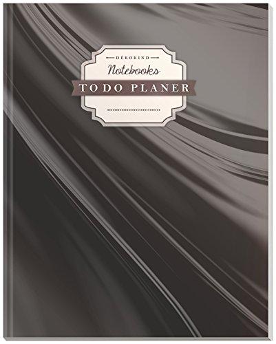 DÉKOKIND To Do Planer | DIN A4, 100+ Seiten, Register, Vintage Softcover | Dickes Checklisten Buch | Motiv: Premium Black