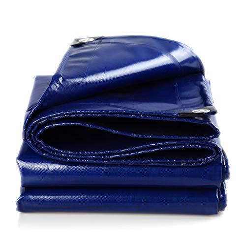YJKDM Lona Resistente, Lona de Polietileno, Impermeable, Protector Solar, antienvejecimiento, marquesina, marquesina, Carpa, Tela para sombrear 100% Impermeable, Anti-Ultravioleta (Color Azul