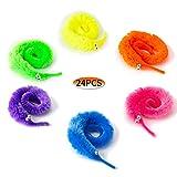 SAVITA 24 Piezas Magic Worm Wiggly Vivid Worm Wick Trick Toys Favores de Fiesta de Cuerda Invisible (6 Colores)