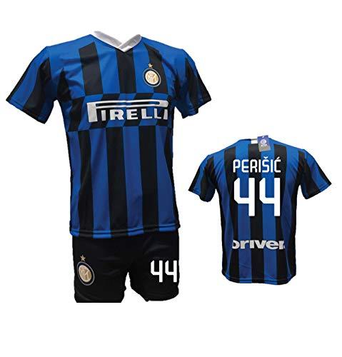 Fußballtrikot Perisic Inter und Shorts mit Größe 44 bedruckt Replik 2019-2020 Kinder (Größe 2 4 6 8 10 12) Erwachsene (S M L XL) (S)