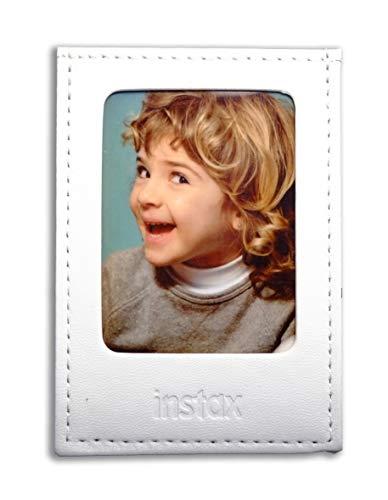 Fujifilm Instax Mini White - Moldura Polipiel para Fotos, Color Blanco