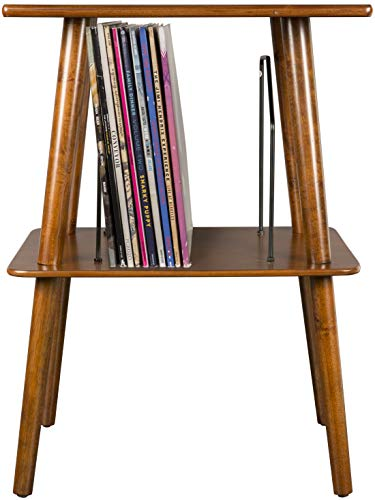 Crosley ST66-MA Manchester Turntable Stand with Wire Record Storage, Mahogany
