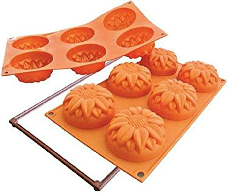 Silikomart Silicone Fancy And Function Bakeware Collection Multi Cake Pan Sunflower