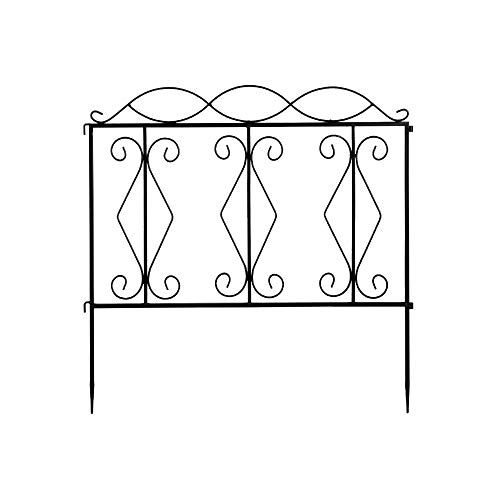 Chang 2424' Wave Top Iron Garden Fence Fencing Animal Barrier Border