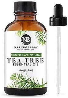 NaturoBliss 100% Pure, Tea Tree Essential Oil - (4 Fl Oz / 120 ml) -Undiluted Tea Tree Essential Oil, Therapeutic Grade - ...