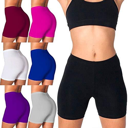 Fandazzie Mujeres Sólido Cómodo Elástico Cintura Ropa Interior Bragas Pantalones Cortos