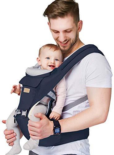 Arkmiido babytrage neugeborene, Babytrage Bauchtrage 3,5-20kg für Neugeborene 3 in 1 Ergonomische, Kindertrage Rückentrage Hüfttrage für alle Jahreszeite