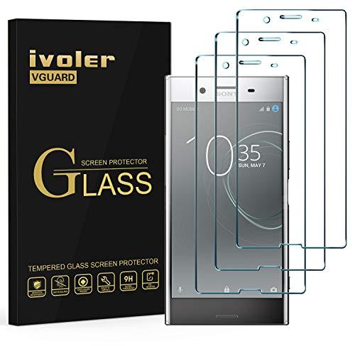 ivoler [Pack de 3] Verre Trempé pour Sony Xperia XZ Premium, [Couverture Complète] Film Protection en Verre trempé écran Protecteur Vitre (Noir)