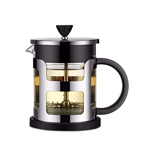 Review Of French Press Coffee Maker, French Press Stainless Steel Coffee Pot Maker Glass Tea Pot Wit...