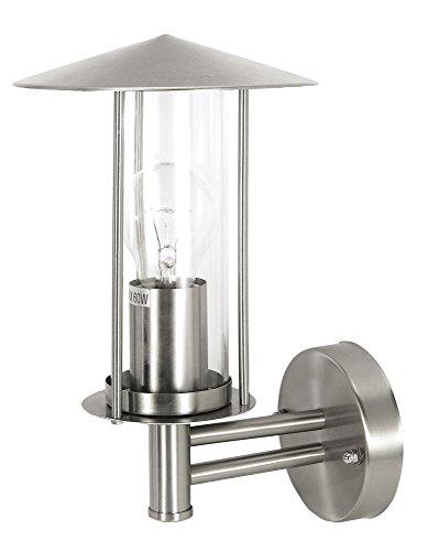 Außen Wandleuchte Fassadenleuchte Edelstahl Laterne Zylinder Wandlampe E27 max. 60 Watt