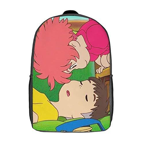 QUEMIN Mochila de ocio Ponyo Mochila clásica para portátil de 17 pulgadas, mochila de camping, mochila de viaje al aire libre, mochila escolar universitaria