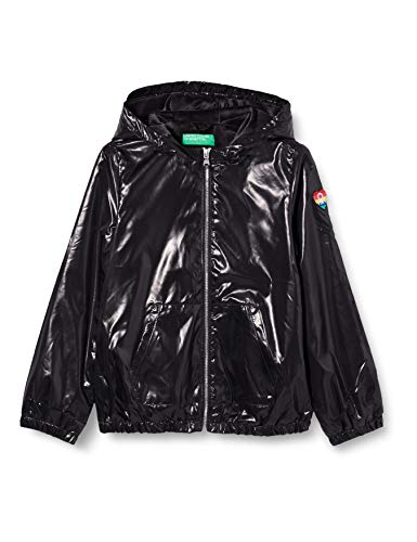 United Colors of Benetton 2EO053IP0 Giacca, Nero 100, M Bambina