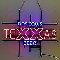 ネオンサイン ネオン 看板 (Dos Equis Texas Beer) NEON SIGN ネオン管Open Beer love Bar Sushi Music レストラン いざかや 店舗装飾 料理 ウォールデコ 壁掛け カフェ 喫茶店 居酒屋煉 広告用看板 クラブ及び娯楽場所等 アメリカン雑貨 インテリア
