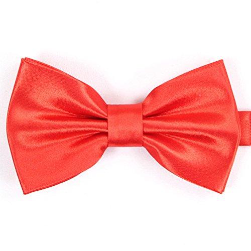 WUNDEPYTIE Fliege Krawatte Polyester Hochzeitsanzug Orange Fliege