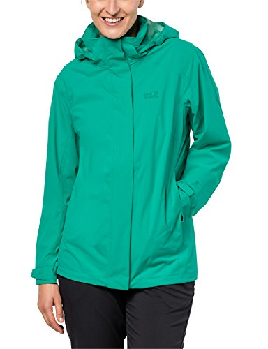 Jack Wolfskin Damen Highland Women Atmungsaktiv Wasserdicht Winddicht Outdoor Funktionsjacke Wanderjacke Regenjacke Wetterschutzjacke, deep Mint, S
