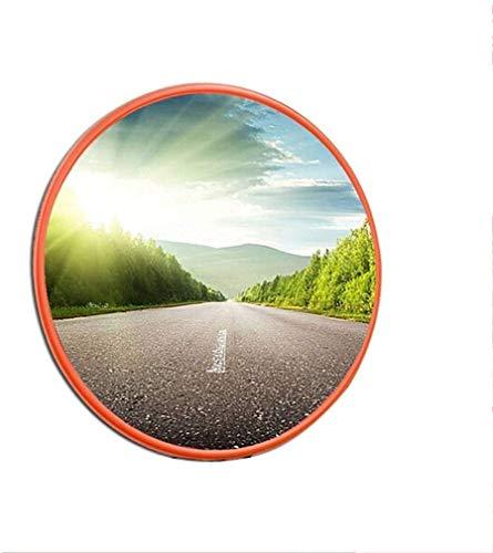 HQY verkeer in de vrije groothoeklens, indoor outdoor-wand diefstalbeveiligingsspiegel verkeer gebogen holle spiegel 180 ° dode hoekspiegel 30 cm