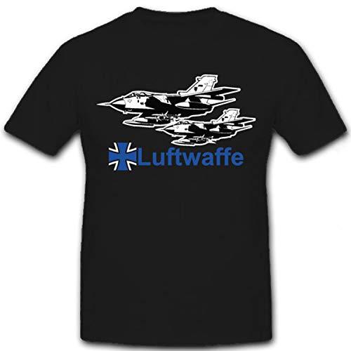 Luftwaffe Tornado Bundeswehr Luftwaffe Tornado Flugzeug Jet - T Shirt #7256, Größe:XXL, Farbe:Schwarz