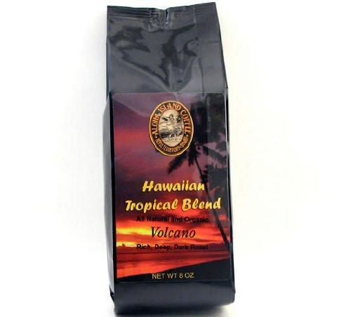 Volcano, Dark Roast, Kona Hawaiian Coffee Blend, 8 Oz, Whole Bean