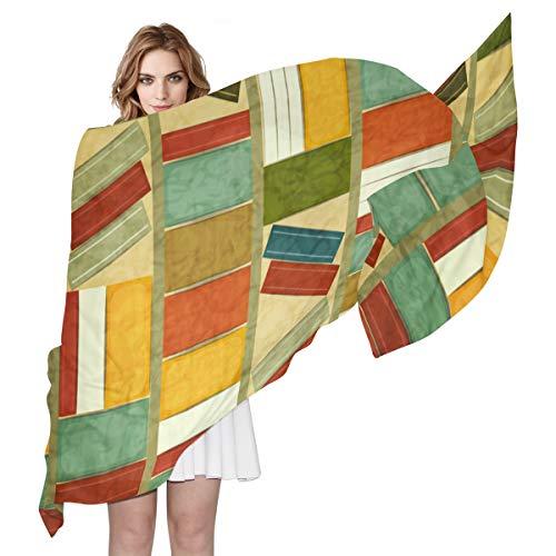COOSUN LORVES Vintage Boekenplank Zijde Sjaal Lichtgewicht Lange Sjaal Sjaal Wrap voor Vrouwen