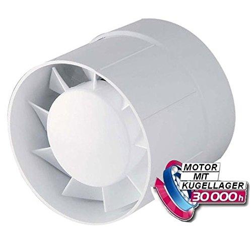 Rohr-Einschub-Ventilator Ø 100 125 150 mit Kugellager -Lüfter Badlüfter IPX4 Kanallüfter WKA-L (Ø 100)