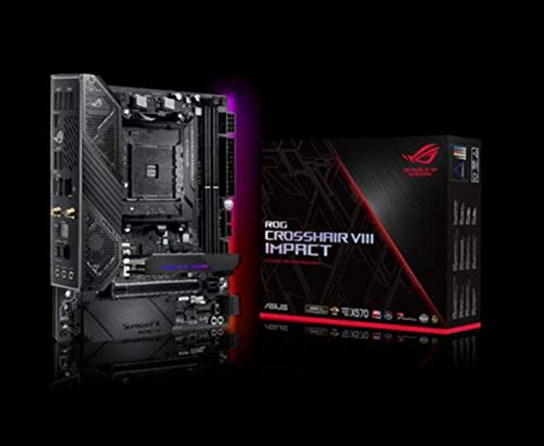ASUS ROG Crosshair VIII Impact Gaming Mainboard (AMD AM4 Sockel, Mini-DTX-Formfaktor, SO-DIMM.2, Wi-Fi 6, PCIe 4.0, Aura Sync, USB 3.2 Gen2)