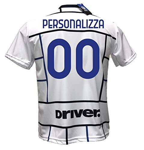 Seconda Maglia Bianca away Inter calcio Personalizzabile Replica Autorizzata 2020-2021 Taglie da Bambino e Adulto. Personalizza con Il Tuo Nome o Il Nome del Tuo Giocatore Preferito (10 ANNI)
