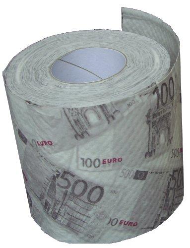 Toilettenpapier EURO SCHEINE - 200 Blatt mit Kohle!