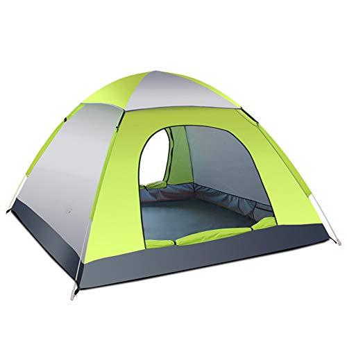 3-4 Personas Anti-UV Impermeable Pop Up Playa Campamento al aire libre Tienda (gris+verde)
