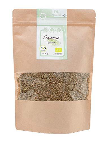direct&friendly Bio Thymian getrocknet und gerebelt Gewürz oder Thymiantee (250 g)
