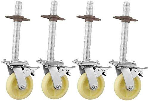 Wz Set 4 Rollen Räder, Lenkrolle Räder Rollen 6-Zoll-Hochleistungs-Gerüste Räder for Industrie Rotating Bremsverschleißfeste Gerüstbau (Farbe : 6 inch Polyurethane)