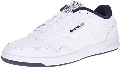 Reebok Men's Club Memt Fashion Sneaker, White/Collegiate Navy, 8.5 4E US