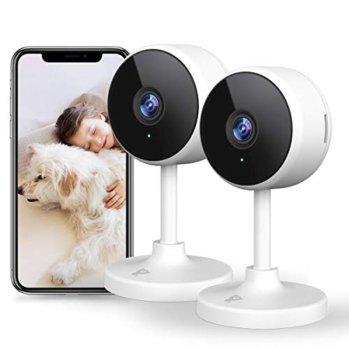 Littlelf Home Security Camera, 1080P Indoor Camera for Baby/Pet/Nanny Monitor, WiFi Camera with Smart Night Vision, 2 Way Audio, Motion&Human Detection, Cloud&SD Card Storage Works with Alexa - 2 PACK