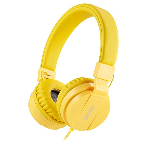 ONTA® gorsun Kopfhörer Kinder Faltbarer Leichte Headsets für Kinder On Ear Audio Kopfhörer für Kinder Handys Smartphones iPhone Laptop Computer mp3 / 4 Kinder Kopfhörer - Gelb