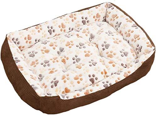 Leifeng Tower Lyxig Corduroy hundsäng, Premium plysch hundsängar, Mycket mjuk hundsäng Avtagbar klädsel för djur soffa, helt tvättbar, röd, L