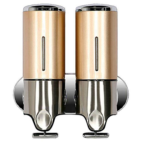 SEESEE.U 500ml Double Liquid Soap Dispenser Wandmontage Bad Dusche Shampoo Spender Dusche Zubehör für Hotel Gold