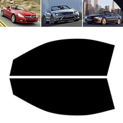 Tintcom.com Film Solaire Vitres Teintées pour-Mercedes SL R230 2-Portes 2001-2010 - Vitres Avant (35% Noir Fumé Moyen)