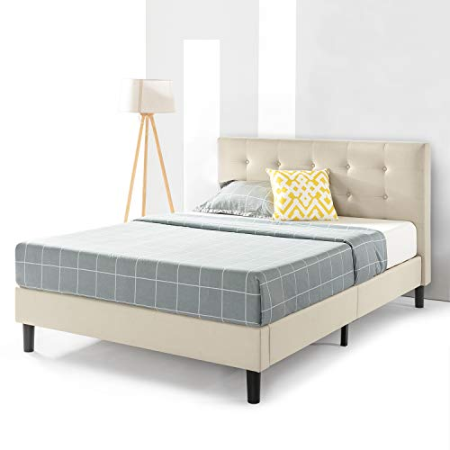 Best Price Mattress Queen Bed Frame - Liz Upholstered Platform Beds with Tufted Headboard and Wooden Slats Support (No Box Spring Needed), Queen Size