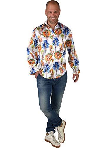 M220254-XL bunt Herren Rio Girls Hemd Bluse Salsa Samba Kostüm Brasilien Gr.XL=60