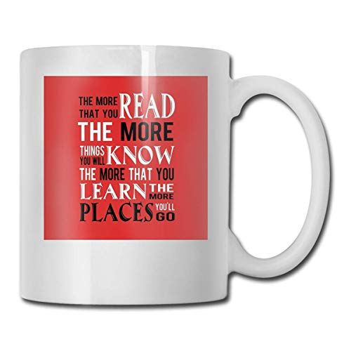 haoqianyanbaihuodian Dr Su The Places You'Ll Go - Vasos de cerámica (330 ml)